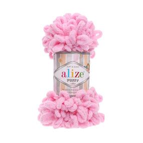 Пряжа ALIZE PUFFY 185-розовый (100% микрополиэстер) фото