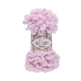 Пряжа ALIZE PUFFY 31-детский розовый (100% микрополиэстер) фото