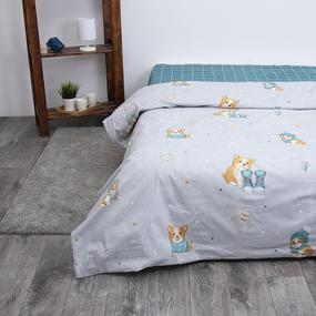 Детское постельное белье из поплина 1.5 сп Корги 3062 фото