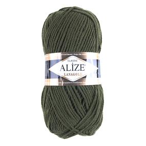 Пряжа для вязания Ализе LanaGold (49%шерсть, 51%акрил) 100гр цвет 29 хаки фото