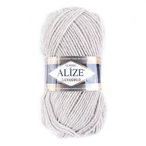 Пряжа для вязания Ализе LanaGold (49%шерсть, 51%акрил) 100гр цвет 152 беж меланж фото