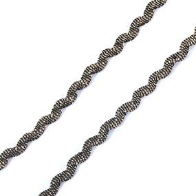 Тесьма плетеная вьюнчик (МЕТАНИТ) С-2914 (3621) г17 уп 20 м ширина 7 мм (5 мм) рис 8657 цвет 143 фото