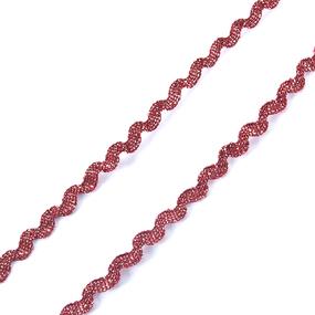 Тесьма плетеная вьюнчик (МЕТАНИТ) С-2914 (3621) г17 уп 20 м ширина 7 мм (5 мм) рис 8657 цвет 195 фото