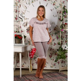 Пижама Хлучинская Розовые Сердечки Б15 р 48 фото