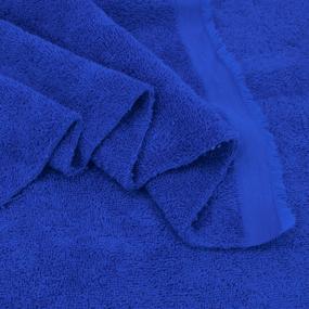 Ткань на отрез махровое полотно 150 см 390 гр/м2 цвет василек фото