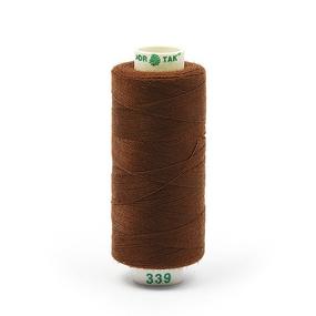 Нитки бытовые Dor Tak 40/2 366м 100% п/э, цв.339 коричневый фото