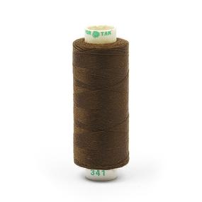 Нитки бытовые Dor Tak 40/2 366м 100% п/э, цв.341 коричневый фото