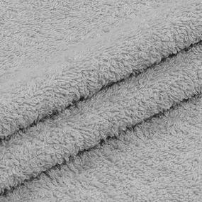 Ткань на отрез махровое полотно 150 см 350 гр/м2 цвет серый фото