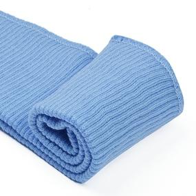 Подвяз 8х70 см 100% ПАН арт.ПРЦ-32/2 рапорт 2х2 плетение ластик цв. 556/4 неж.голубой 5шт фото