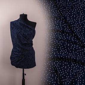 Ткань на отрез Прадо горох цвет синий фото