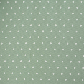 Ткань на отрез ультра софт горох цвет мята фото