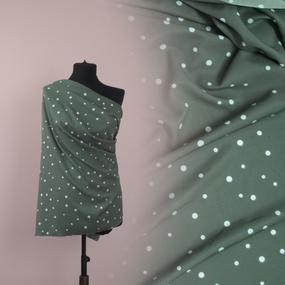 Ткань на отрез ультра софт горох цвет зеленый фото