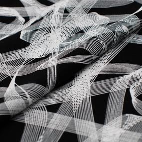 Ткань на отрез штапель 145 см 60013/3 Абстракция цвет черный фото