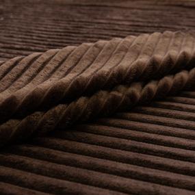 Ткань на отрез велсофт Orrizonte 300 гр/м2 200 см 004-ОT цвет шоколадный фото