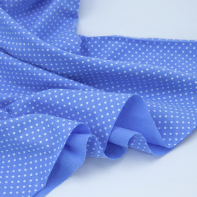 Ткань на отрез кулирка 1022-V3 Пшено на голубом фото