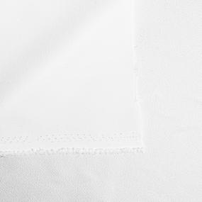 Ткань на отрез креп-костюмный цвет белый фото