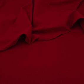 Ткань на отрез футер петля с лайкрой 19-1557 цвет красный фото