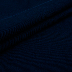 Ткань на отрез кашкорсе с лайкрой 1812-1 цвет темно-синий фото