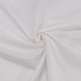 Ткань на отрез таффета 150 см 190Т цвет белый фото