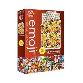 КПБ 1,5 хлопок Emoji (70*70) рис. 8906+8907 вид 1 Смайлы фото
