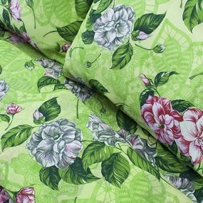 Постельное белье бязь эконом 4321 зеленый 2-х сп фото