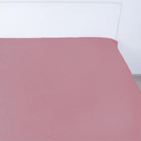 Простынь на резинке сатин цвет пыльная роза 140/200/20 см фото