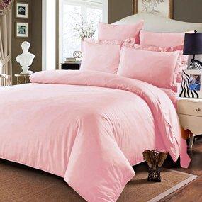 Простынь на резинке сатин цвет розовый 140/200/20 см фото