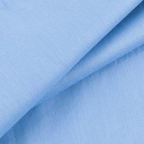 Простынь на резинке сатин цвет голубая лагуна 140/200/20 см фото