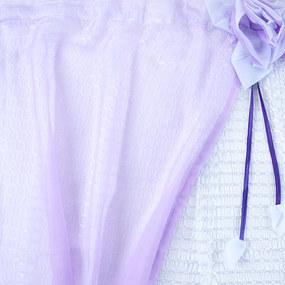Шторы Розочка 300/175 см цвет фиолетовый фото
