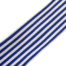 Лампасы №40 белые синие полосы 3см уп 10 м фото