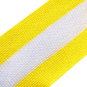 Лампасы №41 желтая белая желтая полосы 4см уп 10 м фото