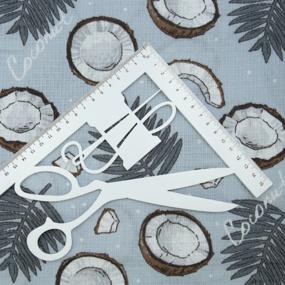 Ткань на отрез вафельное полотно набивное 150 см 3083-2 Кокос фото