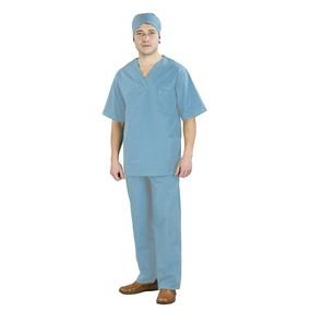 Костюм Хирург рукав короткий ТиСи голубой 44-46 рост 172-176 уценка фото