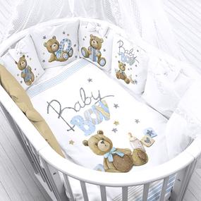 Ткань на отрез перкаль детский 150/37.5 см 21 Мишки Baby Boy фото