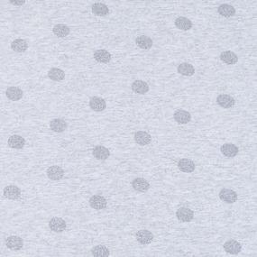 Ткань на отрез кулирка лайкра с глиттером Горох R193 фото