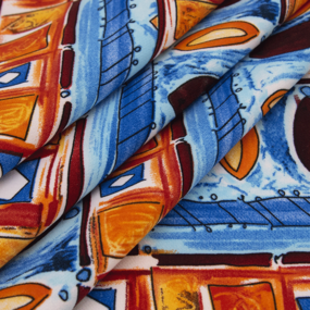 Ткань на отрез барби Мозаика фото