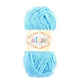 Пряжа для вязания Ализе Softy (100% микрополиэстер) 50гр/115 м цвет 128 светло-бирюзовый фото