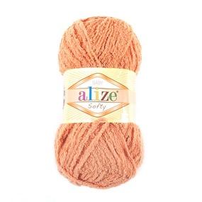 Пряжа для вязания Ализе Softy (100% микрополиэстер) 50гр/115 м цвет 336 оранжевый фото