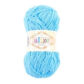 Пряжа для вязания Ализе Softy (100% микрополиэстер) 50гр/115 м цвет 364 морская волна фото