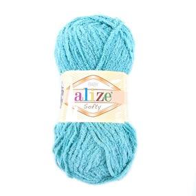 Пряжа для вязания Ализе Softy (100% микрополиэстер) 50гр/115 м цвет 490 светло-бирюзовый фото