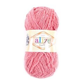 Пряжа для вязания Ализе Softy (100% микрополиэстер) 50гр/115 м цвет 619 коралловый фото
