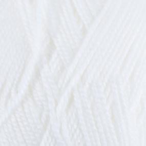 Пряжа для вязания ПЕХ Акрил 100гр/300м цвет 001 белый фото