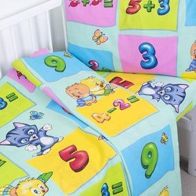 Постельное белье в детскую кроватку 5037/2 Забавный счет с простыней на резинке фото
