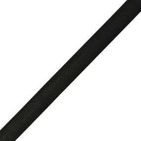 Резинка 15 мм 40 м ТВ-015 цвет черный фото