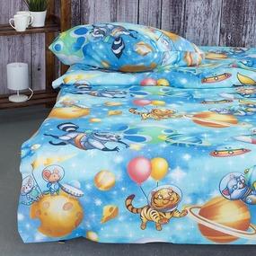 Детское постельное белье из бязи 1.5 сп 13055/1 Астронавты фото