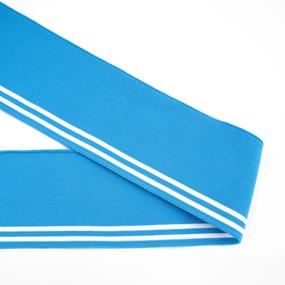 Подвяз 8*80см голубой белые полоски фото