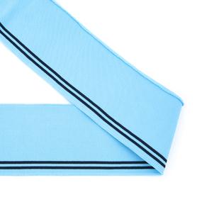 Подвяз 8*80см голубой черные полоски фото