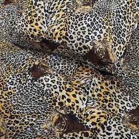 Постельное белье из бязи эконом 1210 Тигры 1.5 сп с 1-ой нав. 70/70 фото