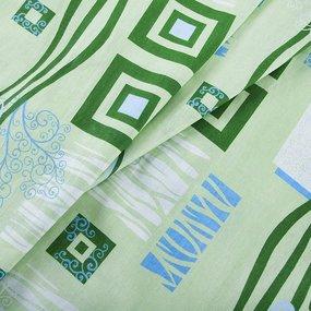Постельное белье бязь эконом 348/2 Пикассо салатовый 1.5 сп с 1-ой нав. 70/70 фото