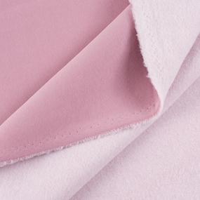 Маломеры футер 3-х нитка компакт пенье начес цвет светло-розовый 0.6 м фото